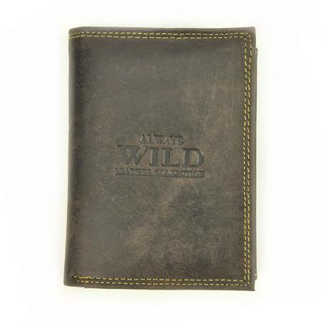 Portofel barbati din piele naturala Wild N4-CHM RFID0