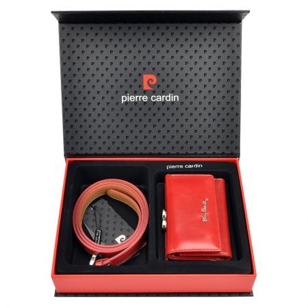 Set cadou dama portofel si curea dama din piele naturala Pierre Cardin, PDS602 [0]
