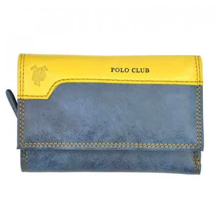 Portofel dama din piele naturala Harvey Miller Polo Club 1501 P074 [9]