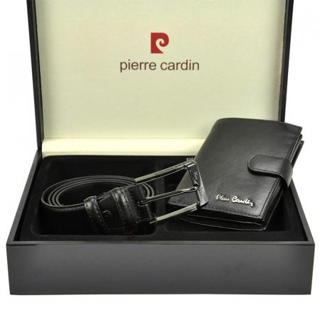 Set cadou barbati Pierre Cardin, portofel + curea, ZG-75 PREMIUM2