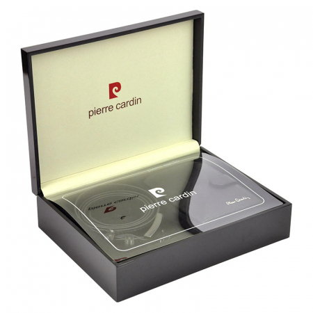 Set cadou barbati Pierre Cardin, portofel + curea, ZG-75 PREMIUM4