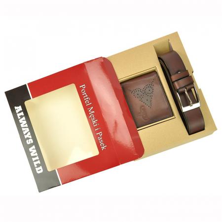 Set cadou barbati portofel si curea barbati din piele naturala PSB-N7-02-GG [3]