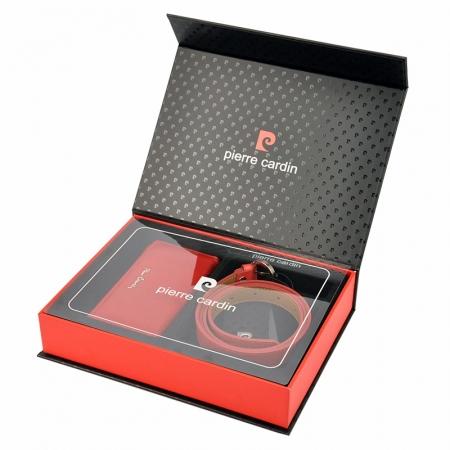 Set cadou dama portofel si curea dama din piele naturala Pierre Cardin, PDS6003
