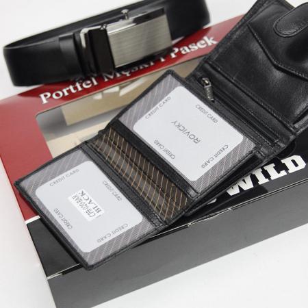 Set cadou barbati portofel si curea barbati din piele naturala Rovicky Z-02 [3]