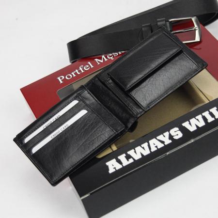 Set cadou barbati portofel si curea barbati din piele naturala Rovicky Z-01 [1]