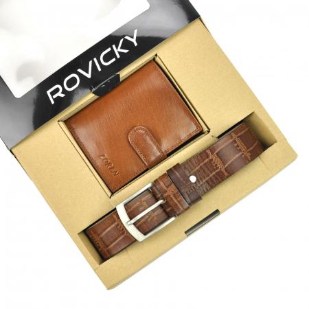 Set cadou barbati portofel si curea barbati din piele naturala Rovicky ZR-04-115 [2]
