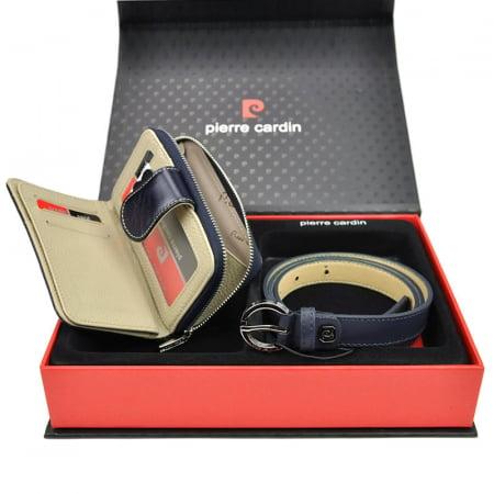 Set cadou dama portofel si curea dama din piele naturala Pierre Cardin ZG-W-05 [2]