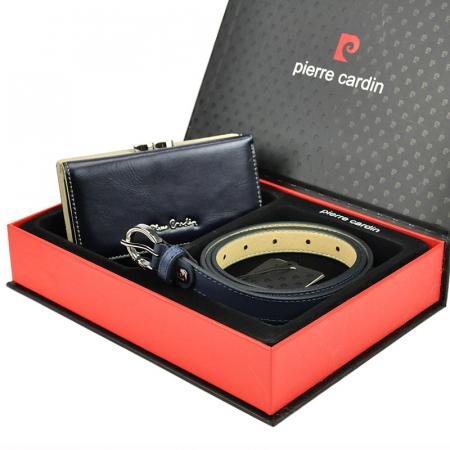 Set cadou dama portofel si curea dama din piele naturala Pierre Cardin ZG-W-04 [2]