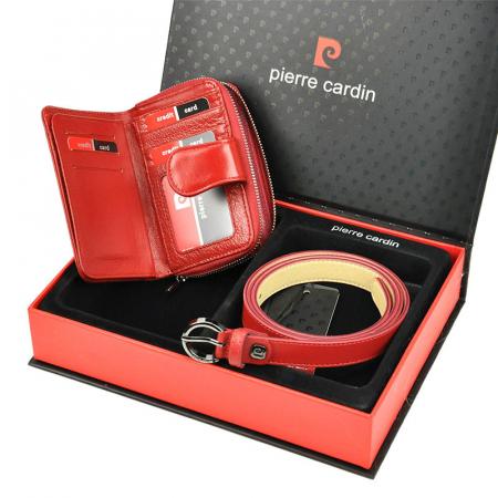 Set cadou dama portofel si curea dama din piele naturala Pierre Cardin ZG-W-06 [2]