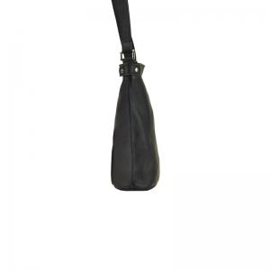 Geanta dama din piele naturala neagra GG11194