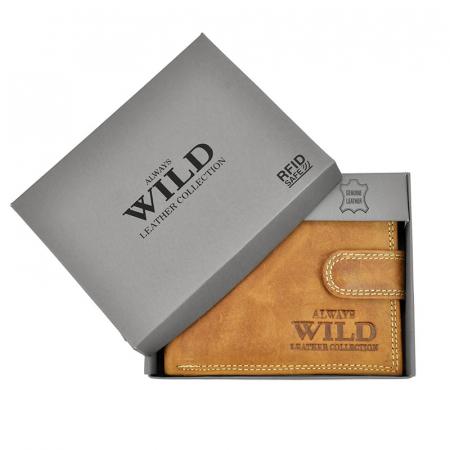 Portofel barbati din piele naturala Wild N992L-CHM RFID8