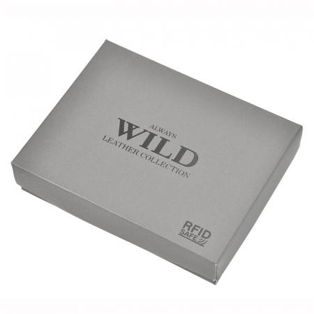 Portofel barbati din piele naturala Wild N992L-CHM RFID9
