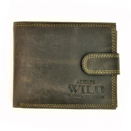 Portofel barbati din piele naturala Wild N992L-CHM RFID10