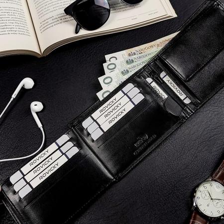 Set cadou barbati portofel si curea barbati din piele naturala Rovicky R-N992L-110-G [4]