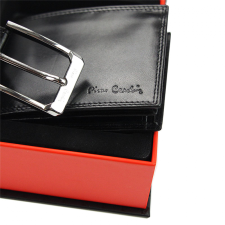 Set cadou barbati portofel si curea barbati din piele naturala Pierre Cardin, PBS7035