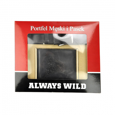 Set cadou barbati portofel si curea barbati din piele naturala PSB-N7-02-GG [0]