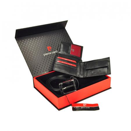 Set cadou barbati portofel si curea barbati din piele naturala Pierre Cardin ZG-262