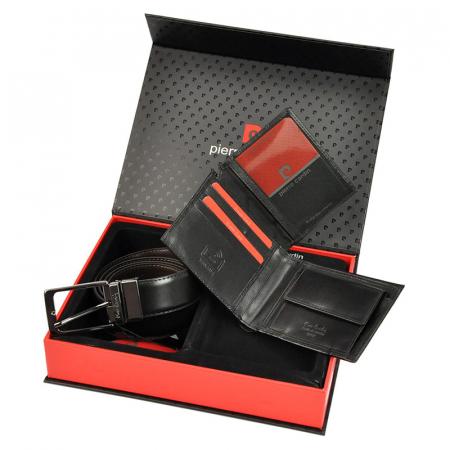 Set cadou barbati portofel si curea barbati din piele naturala Pierre Cardin ZG-71 [2]