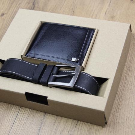 Set cadou barbati portofel si curea barbati din piele naturala Rovicky ZR-01 [1]