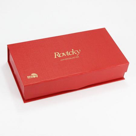 Portofel dama din piele naturala Rovicky 8803-SBR RFID7