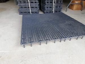 Grătar pentru podea 50 x 50 x 6cm gri 2