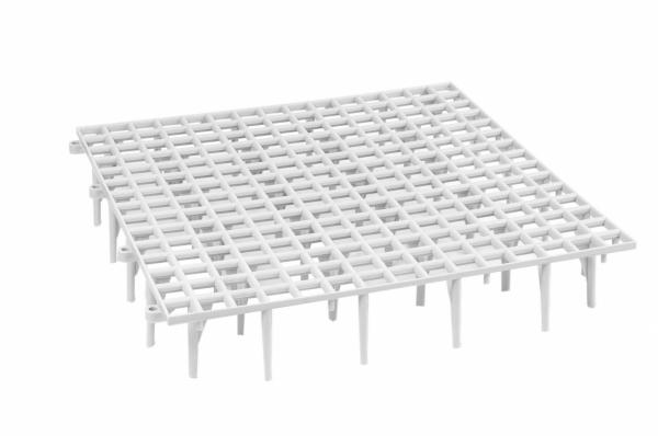 Gratar podea porumbei 50x50x9 cm gri 0