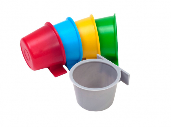 Hrănitor și adăpător tip pahar pentru cuști de expoziție diverse culori 0