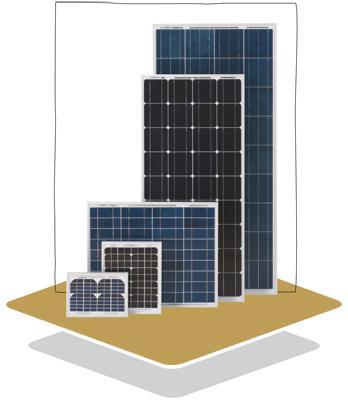 Polycrystalline Solar Panel Luxor Solo Line 50W LX-50P-big