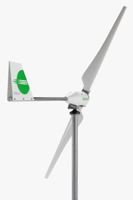 Bornay wind turbine 1500W 48V 2 blades with digital controller B1500/48-big