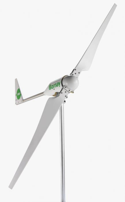 Bornay wind turbine 3000 W 48V 2 blades and digital controller B3000/48-big
