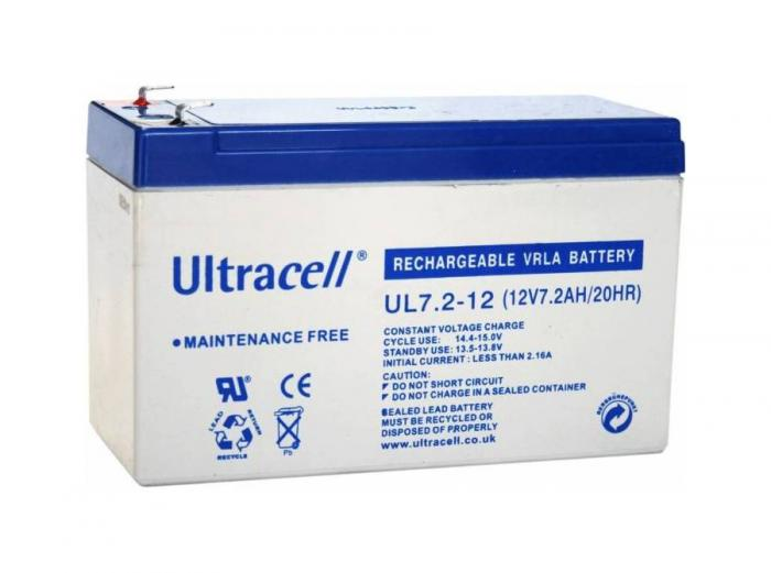 VRLA Battery ULTRACELL 12 V 7.2 Ah UL7.2-12-big