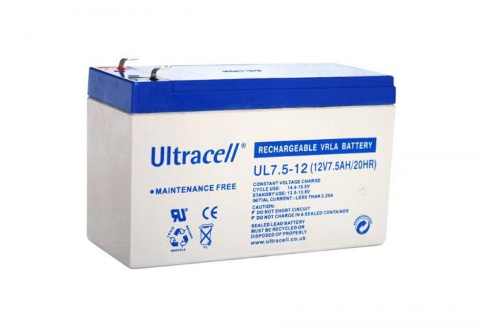 VRLA Battery ULTRACELL 12 V 7.5 Ah UL7.5-12-big