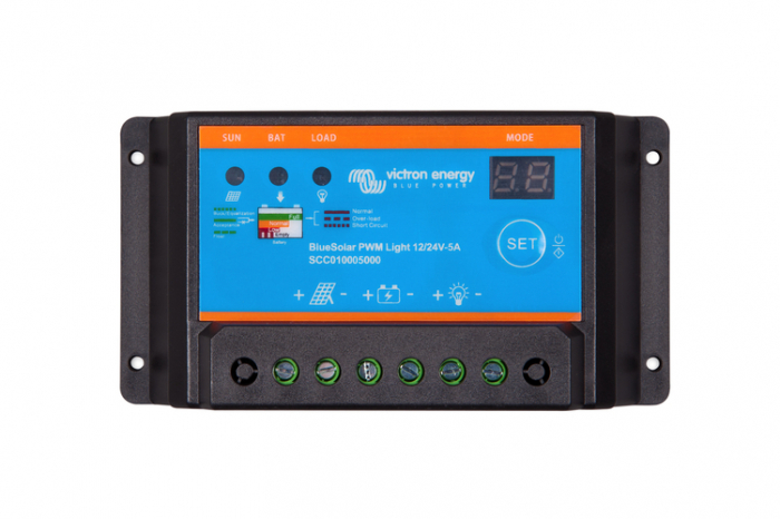 Victron Energy BlueSolar PWM Light Charge Controller 12/24V 5A-big