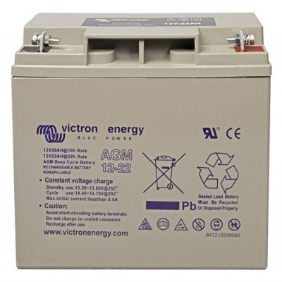 Victron Energy AGM Deep Cycle Battery 12V 22Ah-big