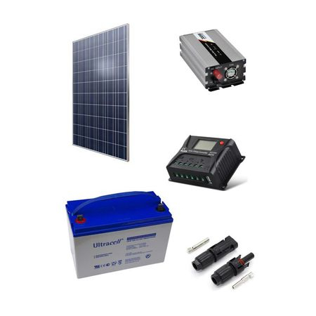 300W Off-Grid Photovoltaic Kit + 600W Inverter-big