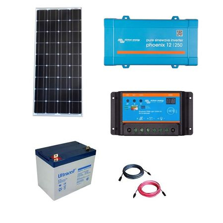 100W Off-Grid Photovoltaic Kit with 250VA Inverter-big