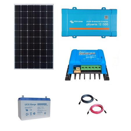 300W Off-Grid Photovoltaic Kit with 500VA Inverter-big