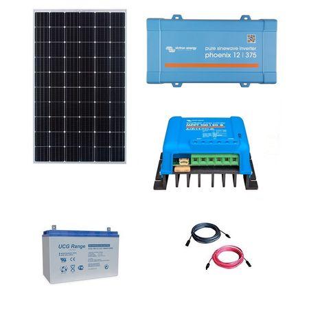 300W Off-Grid Photovoltaic Kit with 375VA Inverter-big