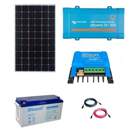 300W Off-Grid Photovoltaic Kit with 800VA Inverter-big
