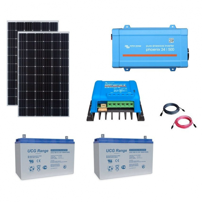 600W Off-Grid Photovoltaic Kit with 500VA Inverter-big