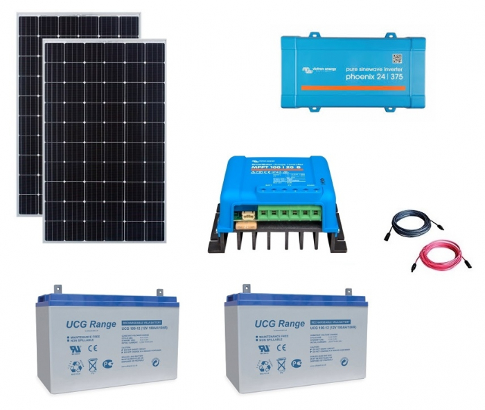 600W Off-Grid Photovoltaic Kit with 375VA Inverter-big
