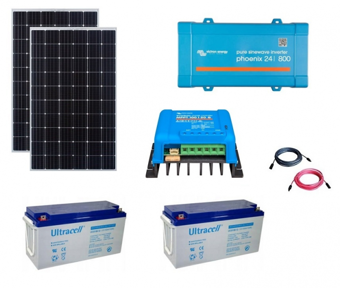 600W Off-Grid Photovoltaic Kit with 800VA Inverter-big
