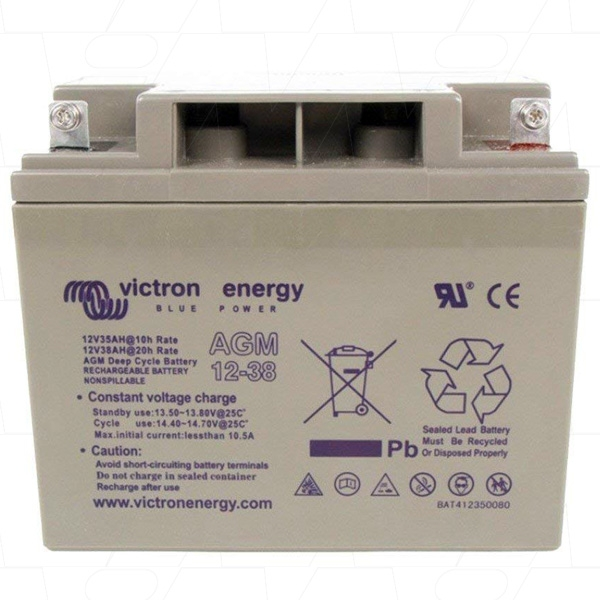 Victron Energy AGM Deep Cycle Battery 12V 38Ah-big