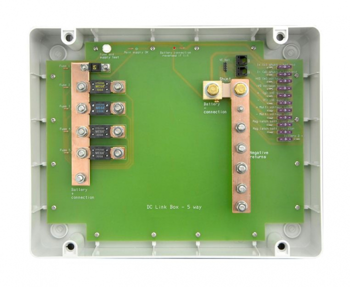 ESP DC Link Box - S (in plastic enclosure) - 5 way-big