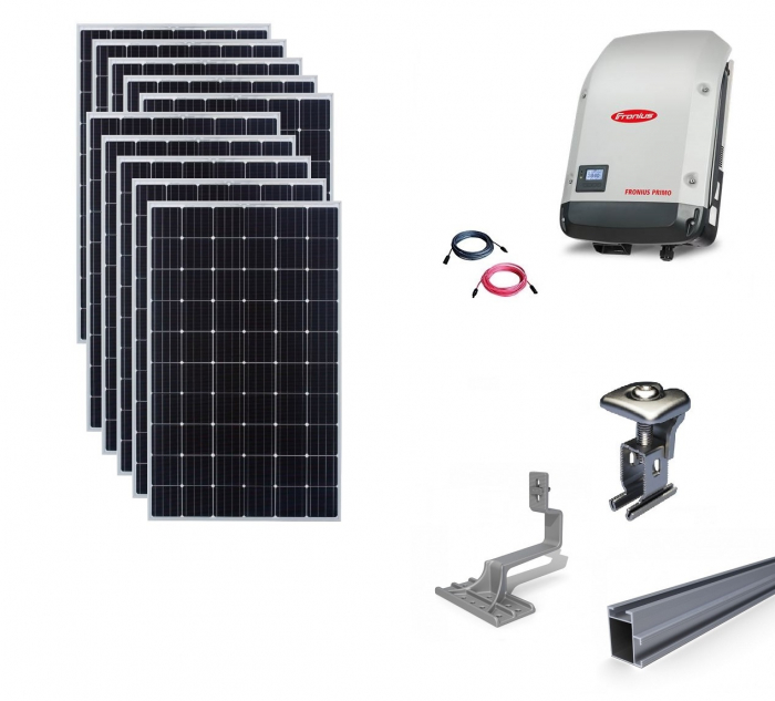 Fronius 3Kwp On-Grid Photovoltaic System catch on tile roof-big