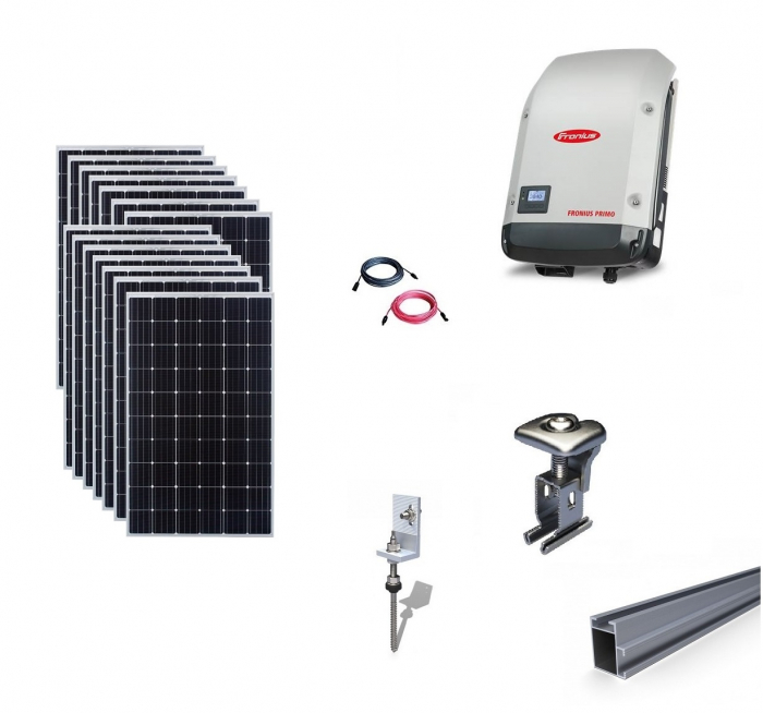 Fronius 4Kwp On-Grid Photovoltaic System catch on metal roof-big