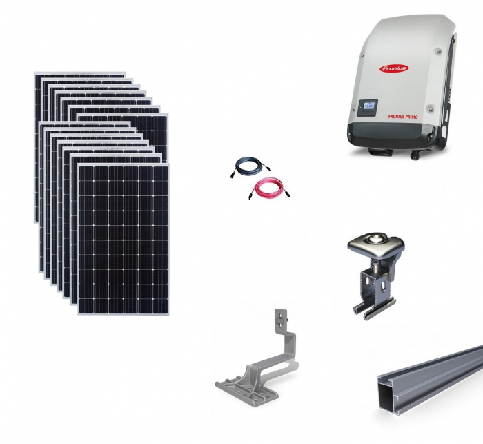 Fronius 4Kwp On-Grid Photovoltaic System catch on tile roof-big