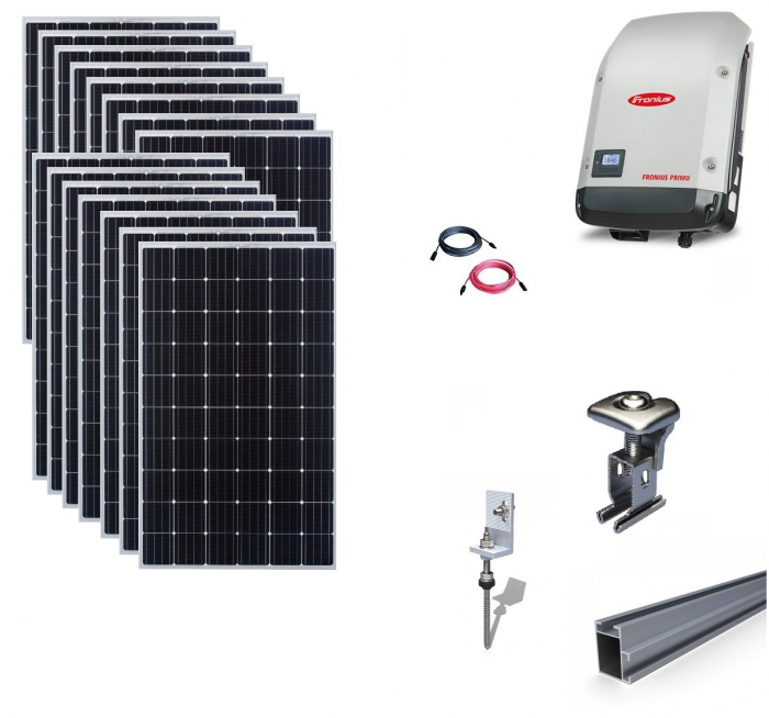 Fronius 5Kwp On-Grid Photovoltaic System catch on metal roof-big