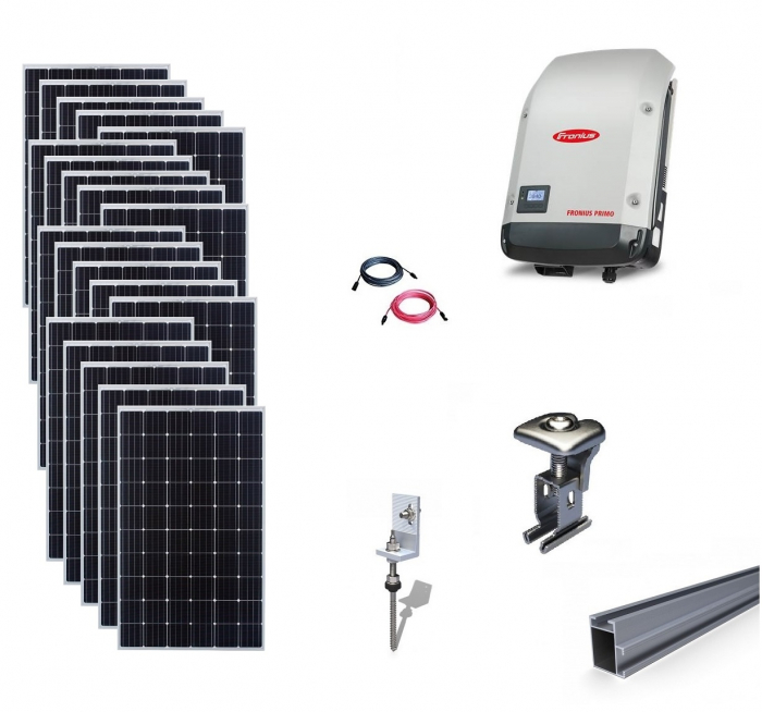 Fronius 6Kwp On-Grid Photovoltaic System catch on metal roof-big