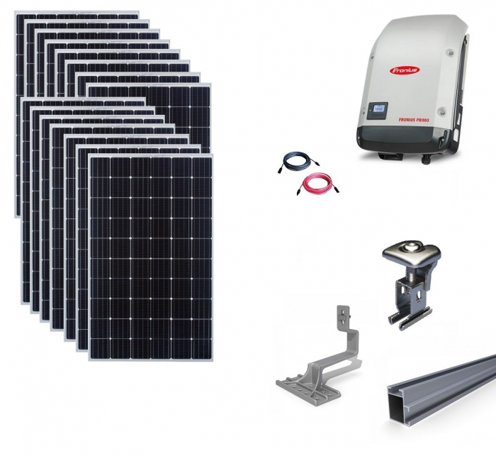 Fronius 5Kwp On-Grid Photovoltaic System catch on tile roof-big